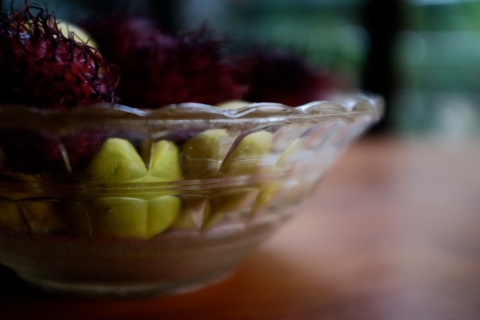 rambutans and lime