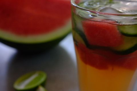 Watermelon and apple cider vinegar tonic